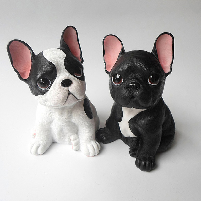 creative animaux r sine fran ais bouledogue sculpture. Black Bedroom Furniture Sets. Home Design Ideas