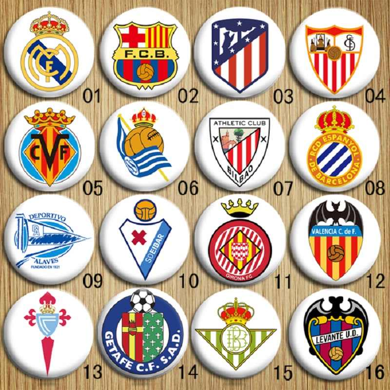 Football Team Logo Of European Soccer La Liga Badges Party Favors