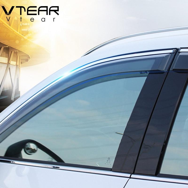 Vtear For Mazda CX 5 cx5 2018 2019 window visor Windows side Sun Rain Protection Shield