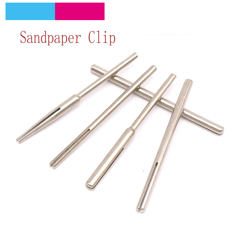 10pcs Sandpaper Clamp Split Mandrels 50mm Long Abrasive Holder Clip Rod Carved Point For Dremel Rotary Grinder Tools 2.35/3mm