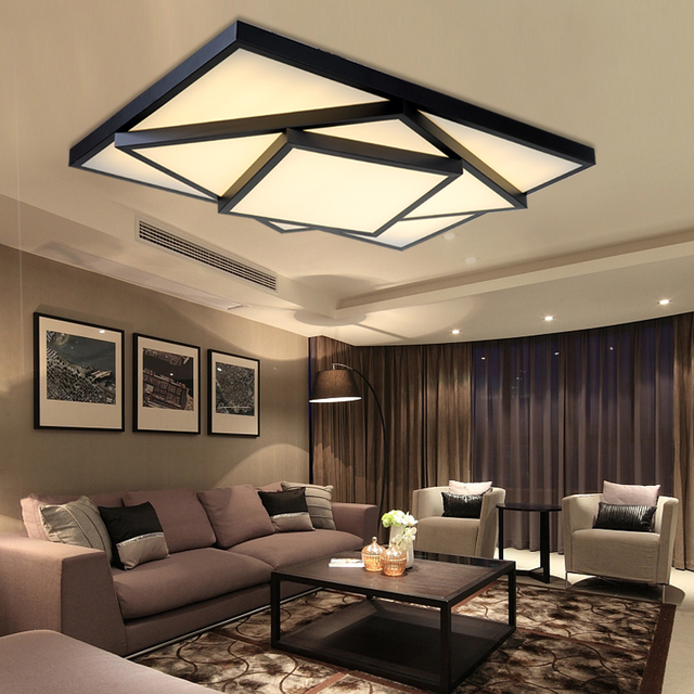 Ben Gate LED Ceiling Lamps Living Room Warm And Romantic Artistic  Personality Triangle Box Restaurant Bedroom Part 76