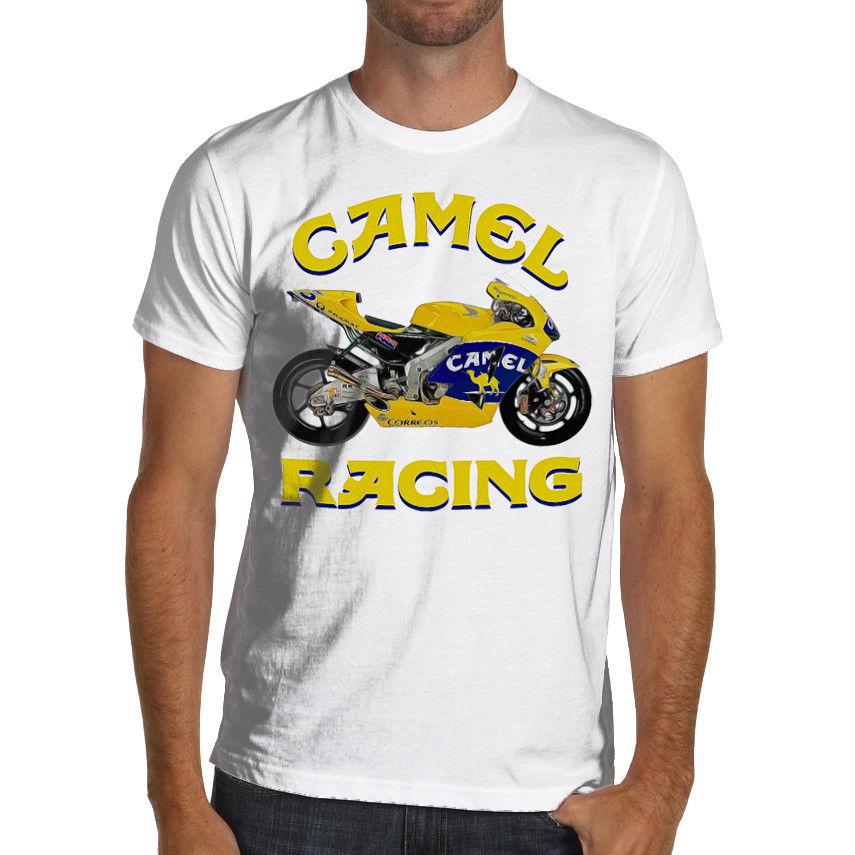 2019 Men Tee Shirt  Biker Rc211V Motorcycles Rac Motorcycle Soft T-Shirt Camel Rac Sweatshirt