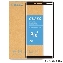 Para Nokia 7 Plus vidrio templado Nokia 7 Plus vidrio para Nokia 7plus Protector de pantalla dureza 9h Vidrio Templado
