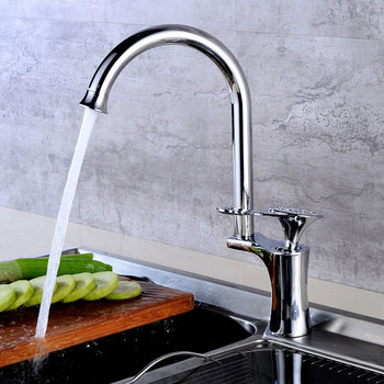 LIUYUE Kitchen Faucets Black/Chrome Brass Delicacy Handle Pattern Design Kitchen Faucets Cold Hot Water Crane Sink Mixer Taps