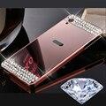 Diy diamante hecho a mano de cristal cáscara del metal del teléfono para sony xperia x xa ultra xz mini/conpact rendimiento espejo pc case cubierta Capa