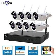 HD 2MP CCTV Системы 8ch 1080 P Беспроводной NVR комплект Открытый ИК Ночное видение IP Wi-Fi Камера безопасности Системы наблюдения hiseeu