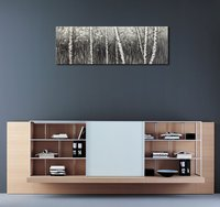 The Birch Forest Canvas Prints Wall Art Grey Trees Oil Paintings Reproduction Pictures Living Room Drop shipping