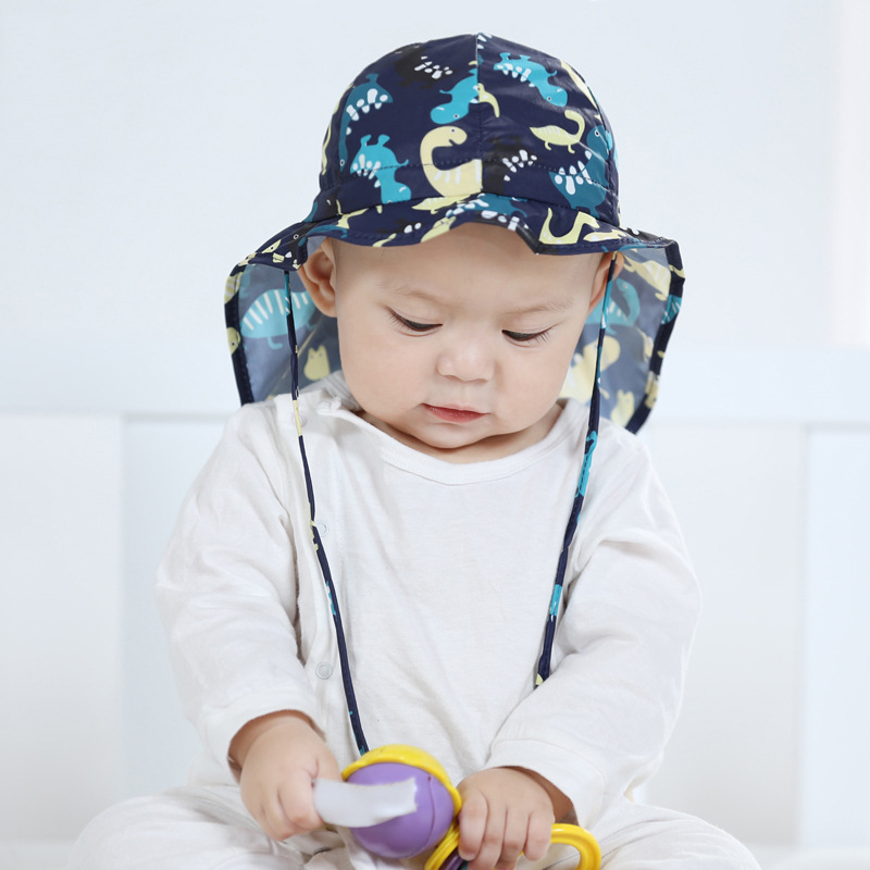 UV Sun Protection Baby Hat Flap Sun Hat Cotton Girls Boys Summer Hat Neck Protection  Kids Explorer Cap 1 4Y-in Hats   Caps from Mother   Kids on ... f8a123c79024
