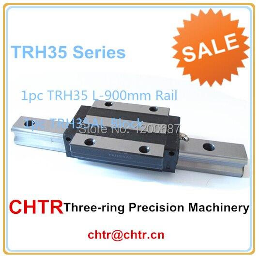 Camera Slide Rail Linear Metal Slide Track 1pc TRH35L900Linear Guide Rail+1pc TRH35AL Linear Block drawer track two drawer rail drawer rail white two rail track rail old old models