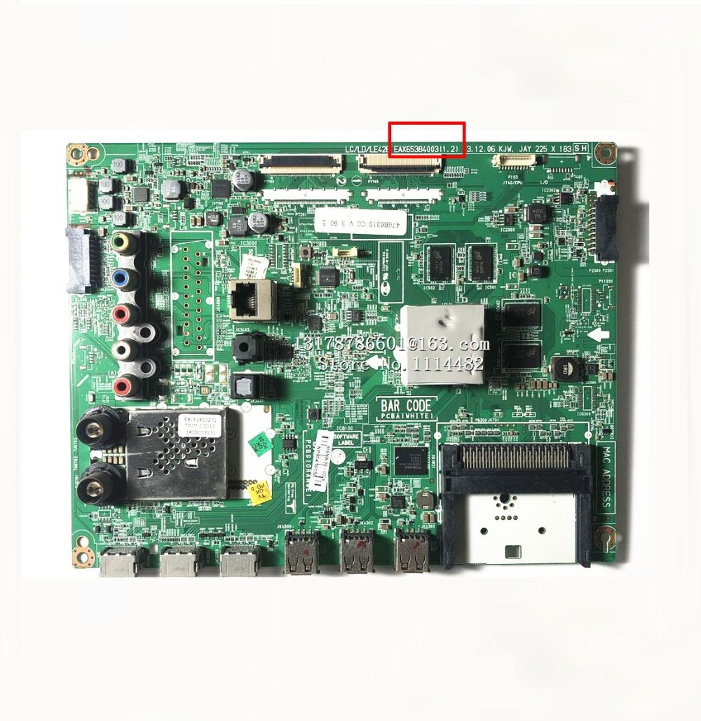 EAX65384003/4/5(1.2) Logic board good test Original for 42GB6310/47GB6310-CC motherboard EAX65384004 EAX65384005 EAX65384003EAX65384003/4/5(1.2) Logic board good test Original for 42GB6310/47GB6310-CC motherboard EAX65384004 EAX65384005 EAX65384003