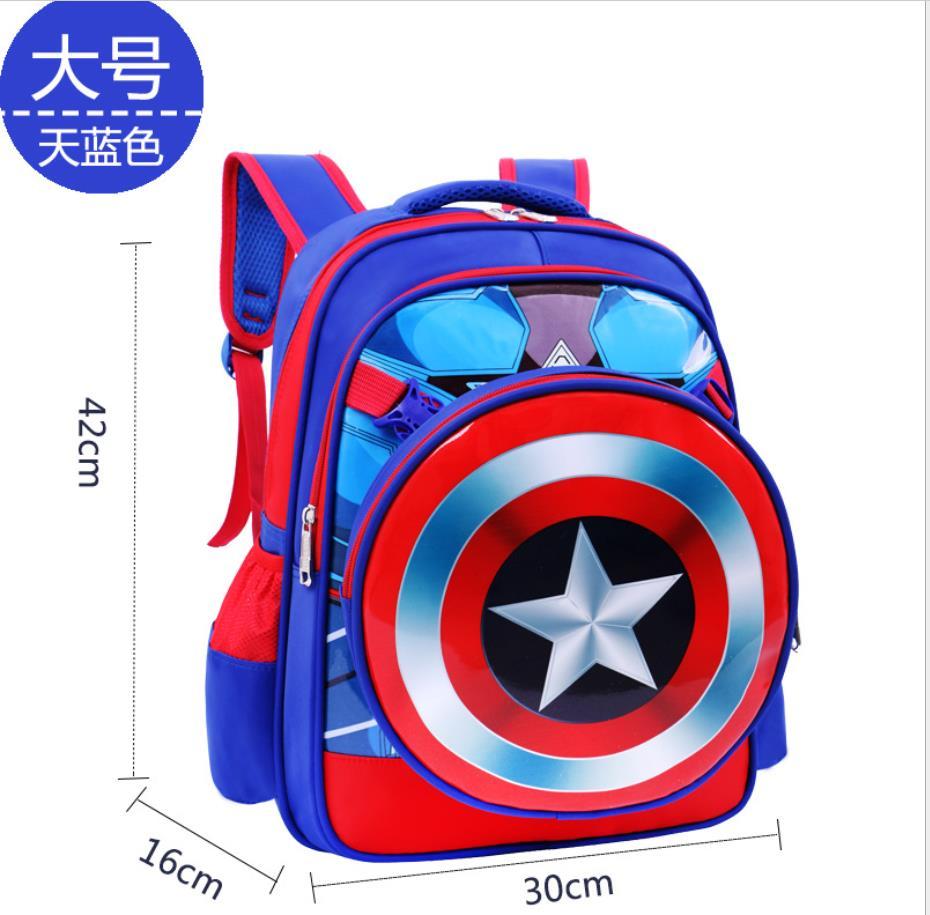 Marvel Avengers états-unis capitaine bouclier Spider-Man Iron Man Batman Superman casque câble chargeur bande dessinée sac d'école