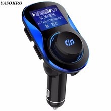 YASOKRO FM Transmitter Aux Modulator Bluetooth Handsfree Car Kit Car Audio MP3 Player with 3.1A Fast Charge Dual USB Car Charger все цены