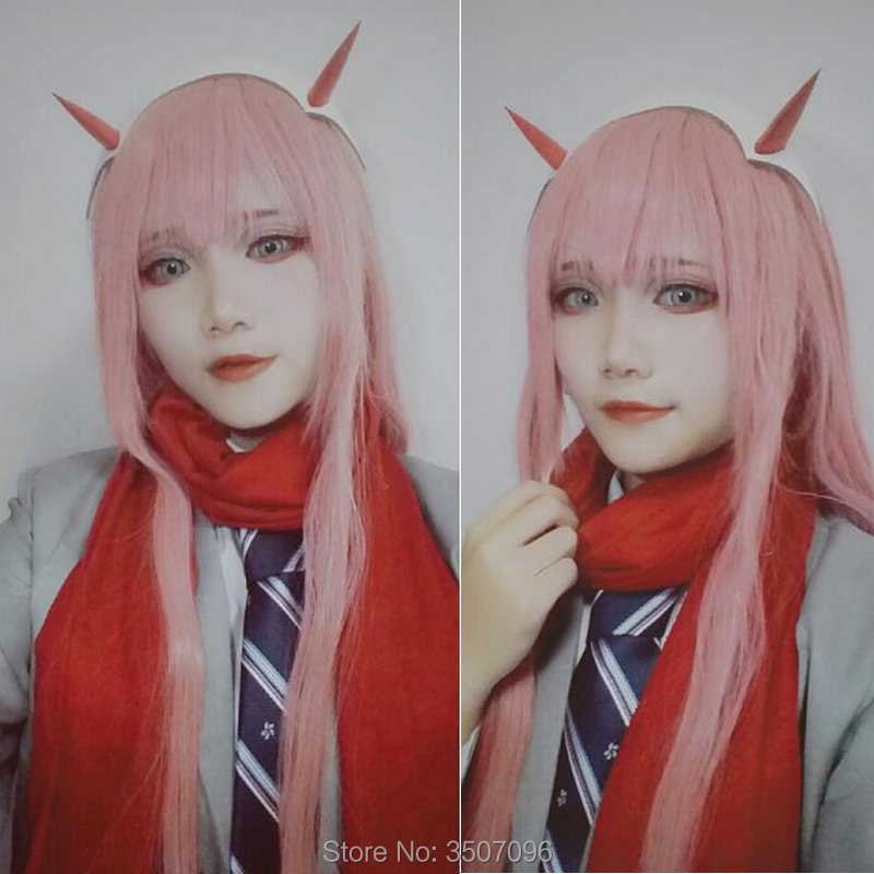 DARLING in the FRANXX Zero Two Cosplay Prop Headwear Horn Headband Hairband Costume Accessories Hairpins Hairclip Anime Hallowee