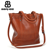 Hollow Out Vintage Luxury Handbags Women Bags High Quality PU Leather Designer Women Shoulder Bag Large