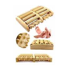 5 Raw Natural Oak Wooden Foot Roller Wood Care Massage Stress Relax Relief Therapy Massager Spa Care Gift Foot Massage