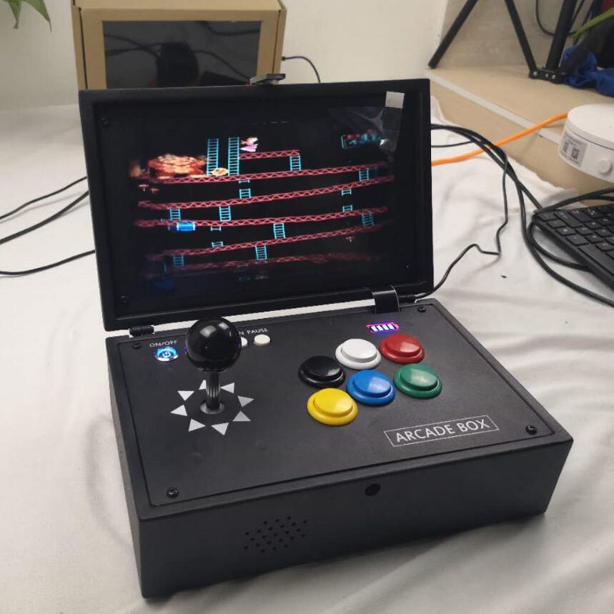 Raspberry Pi 3B + 10 Inch LCD Video Spiel Konsole Umfasst 14 K Spiele Installiert Recalbox Mini Arcade Maschine
