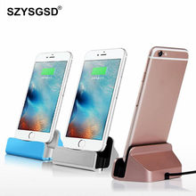 SZYSGSD USB Charger Dock For Apple iPhone 6 iPhone 8 7 Plus USB Cable Data Sync charger base For iPhone 5 5S SE 6 7 6s Plus(China)