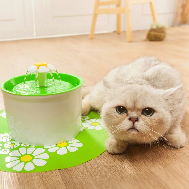 Cat Drinking Fountain Cat Food Trough Automatic Pet Feeder Drinking Fountain Water Small 1.6L