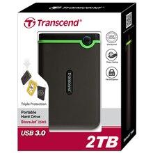 25M3 trascender USB 3.0 Cifrado de Disco Duro Externo de 2 TB HDD unidad de Disco duro 2 T de Almacenamiento Portátil Para PC Portátil escritorio