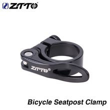 ZTTO Bike Parts MTB Bike Quick Release Ultralight Seatpost Bicycle Clamp 31.8mm Saddle Aluminum Alloy ztto aluminum alloy mtb bicycle rigid fork for 26 27 5 29 mountain bike disc brake straight tube forks 9mm quick release parts