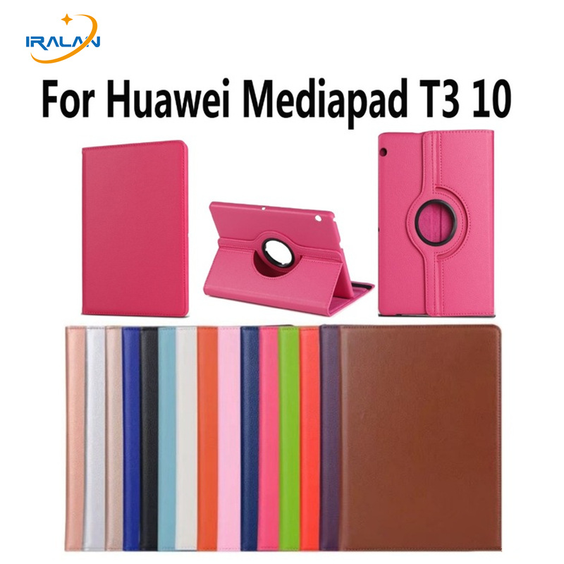 2018 hot Rotation 360 Degree Rotating Litchi Stand Leather Cover Case For Huawei MediaPad T3 10 AGS-L09 AGS-L03 Tablet + pen стоимость