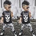 Моды Baby Boy Одежда Наборы Зима Осень Малыша Дети Костюм Casaul Рубашка С Коротким Рукавом Топы + Длинные Брюки 2 шт. костюмы Устанавливает