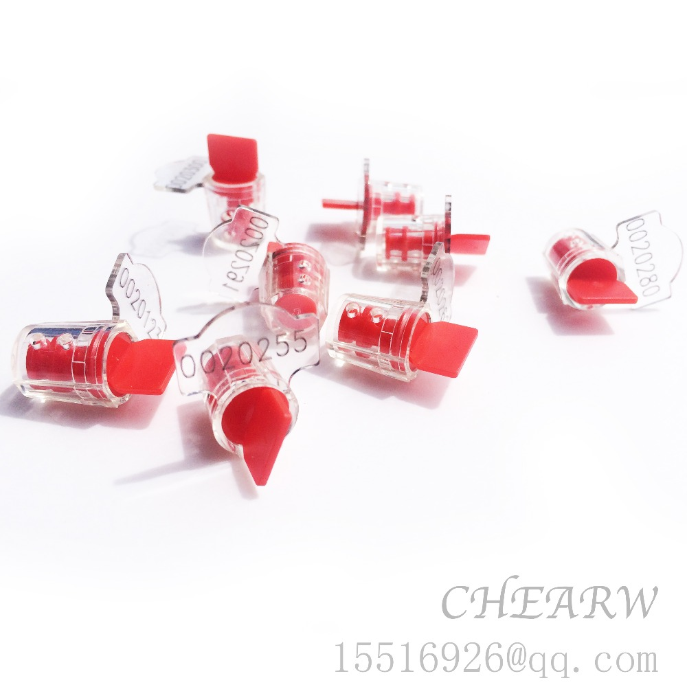 100pcs Meter Seal Torsion Seal Mini Plastic Seals /one Thousand A / Larser Printing Company Signs And Number Security Water