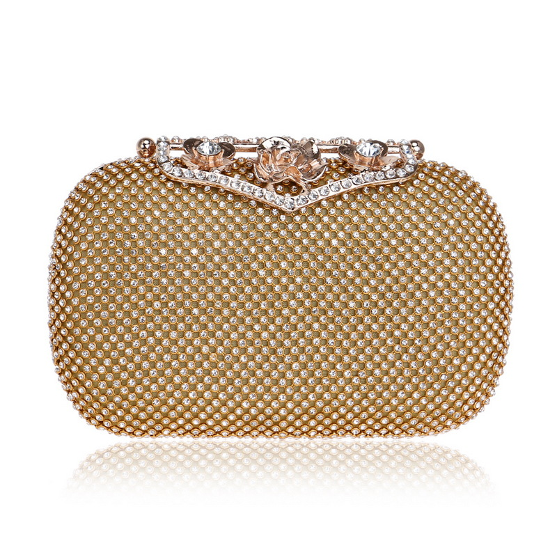 Luxury Evening Bag for Women with Diamonds, Chic Day Clutch with Bling Rhinestones for Party, Chain Bag