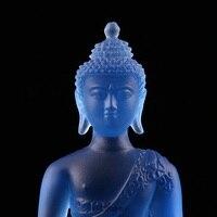 Newest Coloured glaze buddha statue Bhaisajyaguru figure Bhaisajya Buddha figurine medicine Buddha bodhisattva Good luck