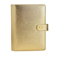 2015 2016 New Fashion Notebook Gift 6 Hole Loose Leaf Diary A5 A6 Spiral Planner Silver