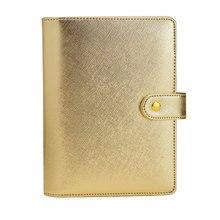 2019 Lovedoki Notebook Geschenk 6 loch Lose Blatt Tagebuch A5 & A6 Spirale Planer Silber Gold Abdeckung Dokibook Organizer koreanische Schreibwaren