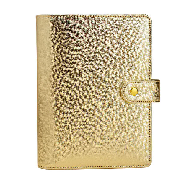2019 Lovedoki Notebook Gift 6 hole Loose Leaf Diary A5&A6 Spiral Planner Silver  Gold Cover Dokibook Organizer Korean Stationery
