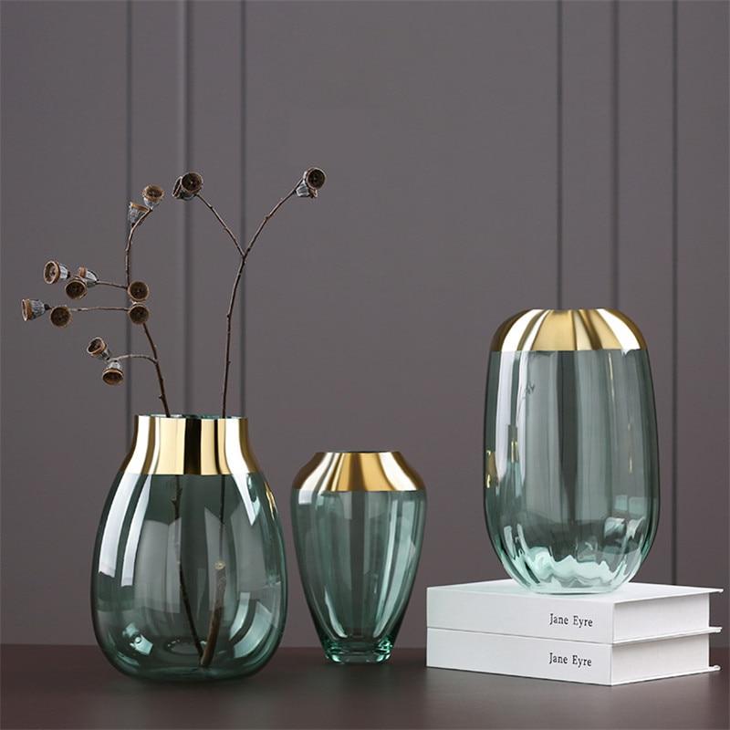 2019 New Modern Nordic Glass Flower Vases Decorative Vases ...