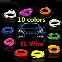 El fio luz de néon novidade luz néon led lâmpada flexível tubo corda led tira luz corda decoração do carro com 6mm costura