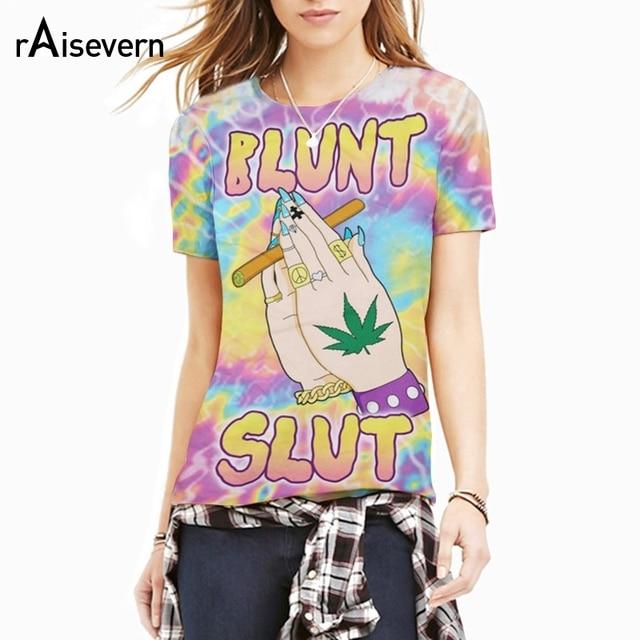 Raisevern Nova Blunt Vagabunda Camiseta Unisex 3D Trippy E Psychedelic Tie- Dye Folha Erva Daninha dd3d738874a