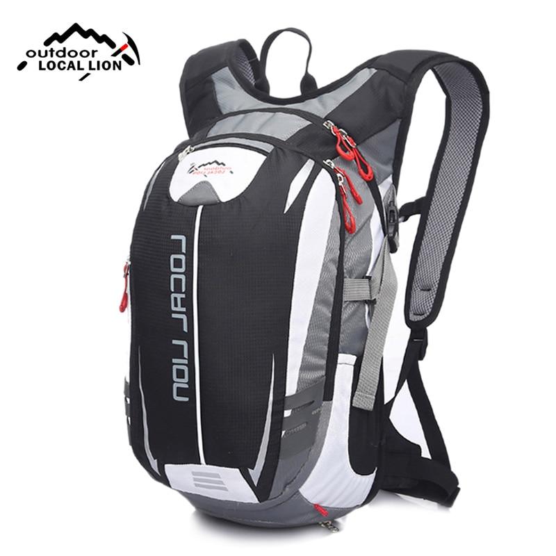 LOCALLION 18L Mountain Bike Backpack Male Black White Patchwork Reflective Cycling Backpacks for Teenage Girls Rucksack XA27WD
