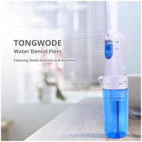 Tongwode Oral Dental Electric Power Floss Dental Water Jet Cleaning Teeth Water Flosser With 2 Jet Tips Spa