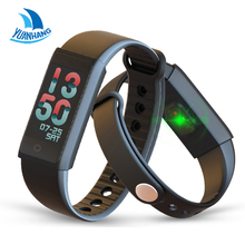 Yuanhang Smart Heart Rate Monitor Blood Pressure WristWatch Intelligent Bracelet Fitness Bracelet Tracker Pedometer Wrist Band