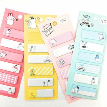 1 paczka Kawaii pingwin które warto czas Memo Pad karteczki samoprzylepne notesy Student Paper papiernicze szkolne materiały biurowe tanie i dobre opinie Podkładki memo Dekoracji E8-05 Able Kids