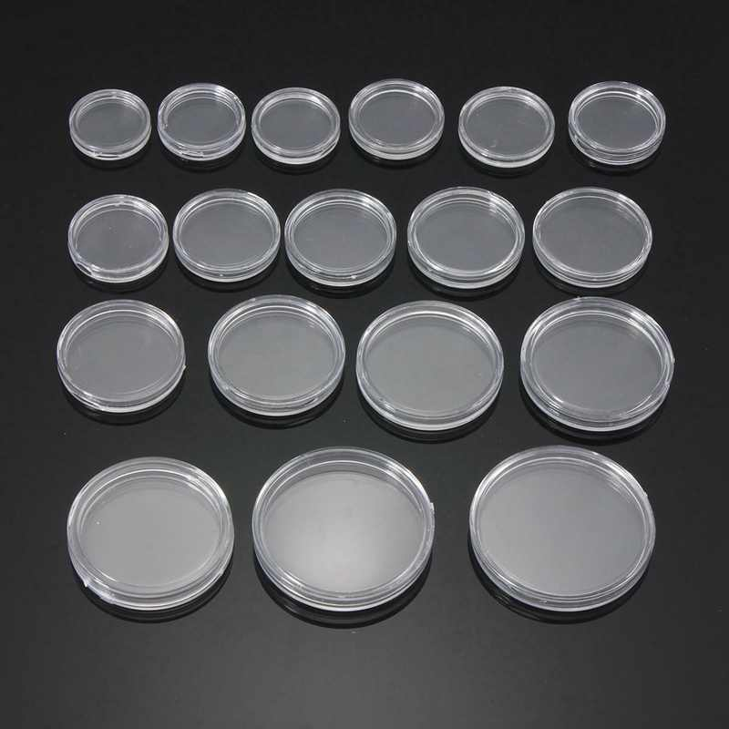20pcs Available Lighthouse Coin Capsules Box Transparent Plastic Small Round Coin Holder Box For Coin Collection 30cm - 40cm
