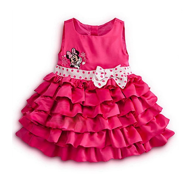Fashion 2017 Summer Minnie Cupcake Girls Dresses Toddler Birthday Outfits Baby Girl Dress Jurken Kids Clothes Children Clothing