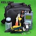 Bolsa de Herramientas de Fibra Óptica FTTH con HS-30 KELUSHI 21 unids/set Fiber Cleaver-70 ~ + $ number dbm Medidor de Potencia Óptica 10 mW Visual Fault Lcator