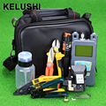 KELUSHI 21pcs/set FTTH Fiber Optic Tool Bag with HS-30 Fiber Cleaver -70~+10dbm Optical Power Meter 10mW Visual Fault Lcator