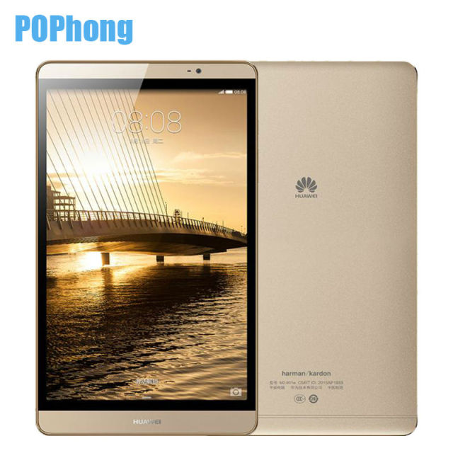 Huawei Mediapad 8.0 дюймов 3 ГБ RAM 64 ГБ ROM WiFi/LTE Tablet PC Android Hisilicon Кирин 930 Octa Ядро Металла 8.0MP + 2.0MP