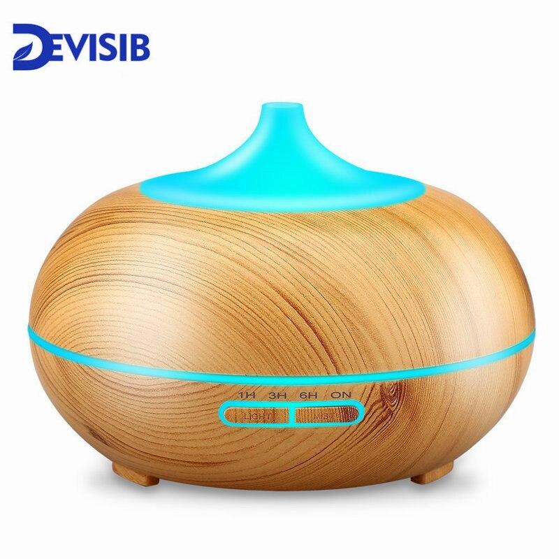 DEVISIB Olio Essenziale Diffusore di Aroma Nebbia Fredda Umidificatore con Senz'acqua Auto Shut-off e 7 di Colore HA CONDOTTO LA Luce e BPA Libero