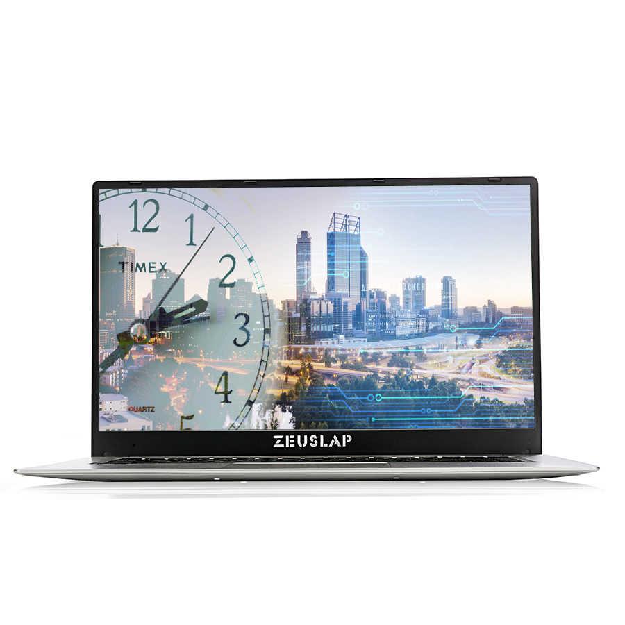 15.6inch Laptop Narrow Frame 1920x1080P FHD Intel Quad Core  CPU 4GB DDR3 64GB eMMC Windows 10 Ultrabook Notebook