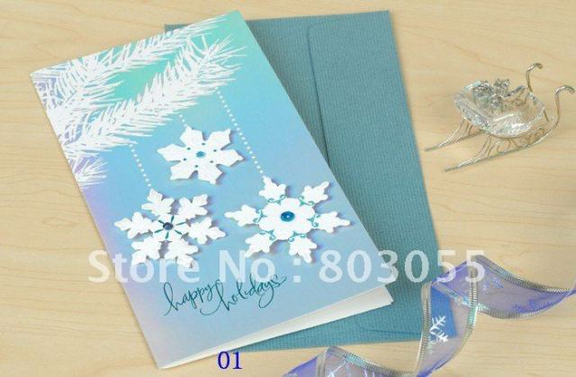 New Arrival christmas cards greeting cards with envelope 115*210mm 50pcs/lot+Free shipping