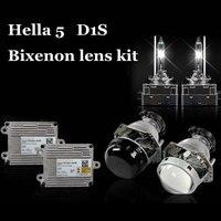 Bixenon спрятал объектив проектора hella5 версия синий покрытие Тип лампы d1 d2 d3 d4 изменить объектив автомобиль ксенона сборки koito D1S лампы