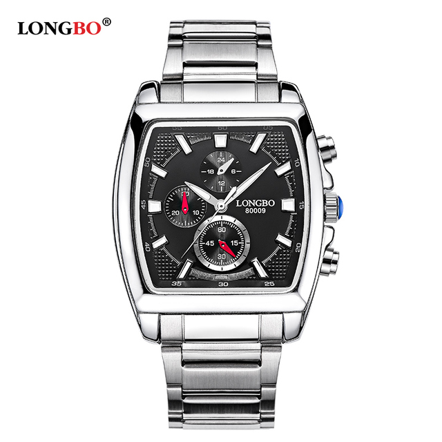 b314c1f6536 Longbo Military Men Full Stainless Steel Band Sports Quartz Watches Dial  Clock For Male Leisure Business Watch Relogio Masculino