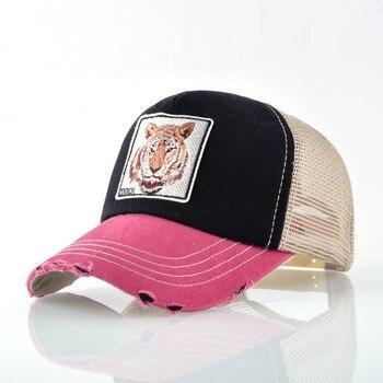 Snapback Hip Hop Trucker Hats For Men Breathable Mesh Bones Summer Tiger Baseball Caps Women Patch Drake Casquette Gorras Hombre 2